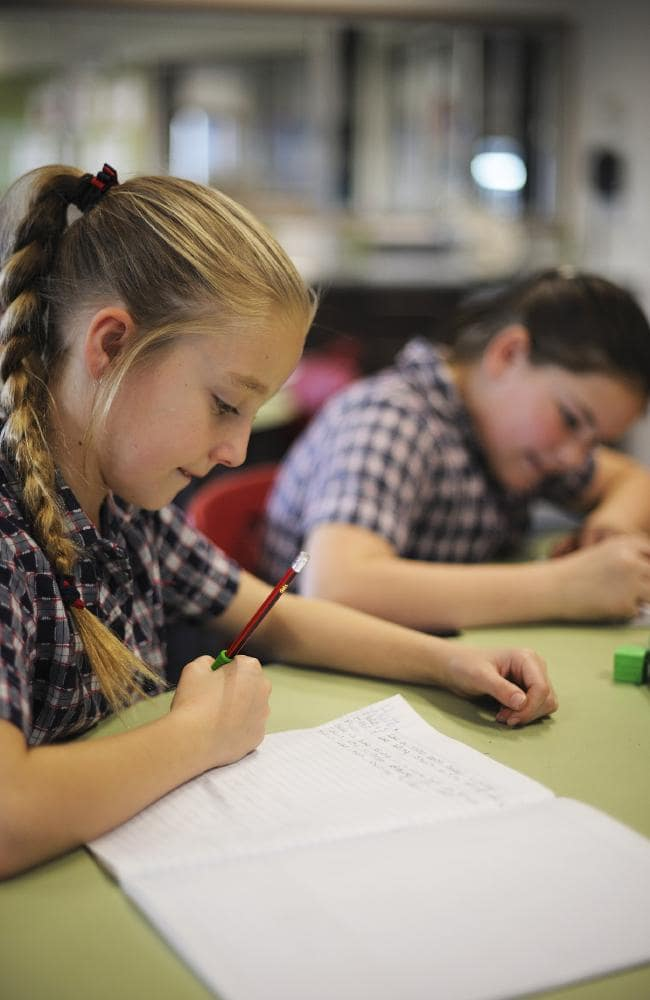 Students sitting for the NAPLAN test the pencil and paper way. Picture: Tasmanian Department of Education
