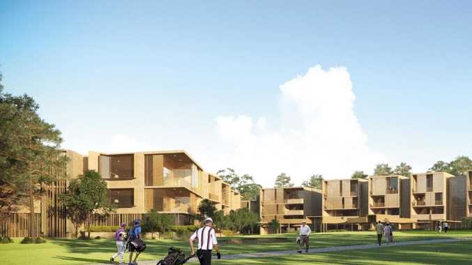 An artist's impression of Aura Holding's planned retirement community at Toowoomba Golf Club, Middle Ridge.
