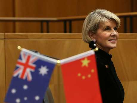 Foreign Affairs Minister Julie Bishop attending the Australia China Business Council Canberra Networking Day 2018 at Parliament House in Canberra. Picture Kym Smith