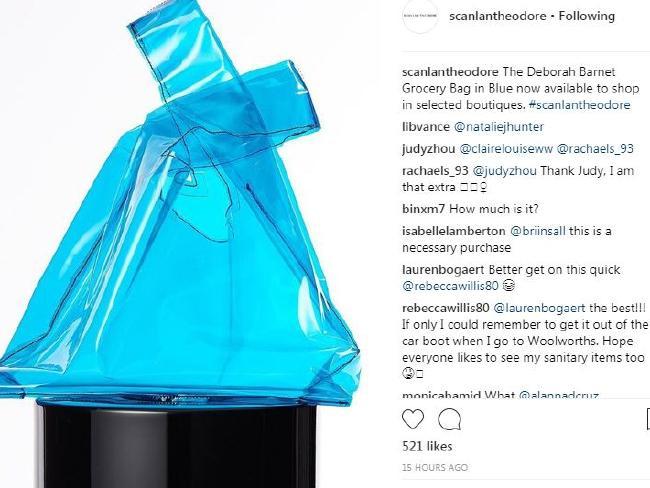 Scanlan Theodore vinyl bag is going for $350. Picture: Instagram/Scanlantheodore