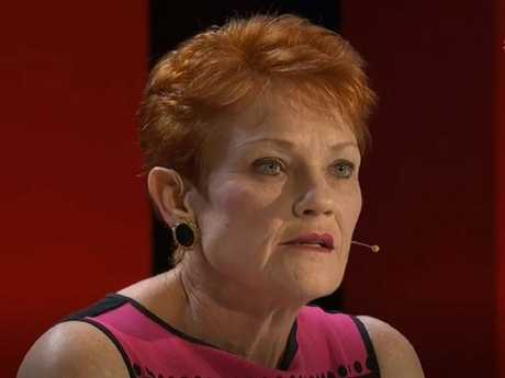 Pauline Hanson on Q&A. Pauline Hanson. Picture: ABC