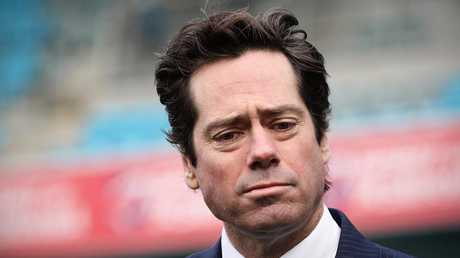 It is understood AFL boss Gillon McLachlan lobbied Mr Dutton's office on his cousin's behalf for the au pair to remain in the country. Picture: LUKE BOWDEN
