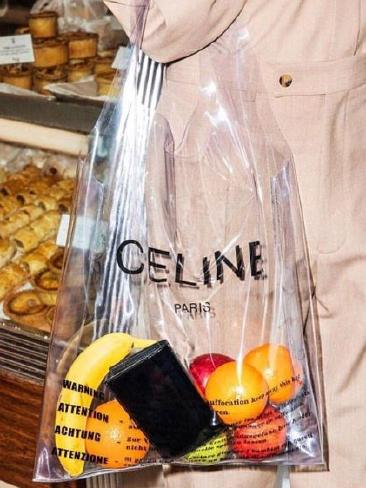 "This Celine ""see-through"" shopping bag is valued at $757. Picture: Instagram/andreaslookbook"