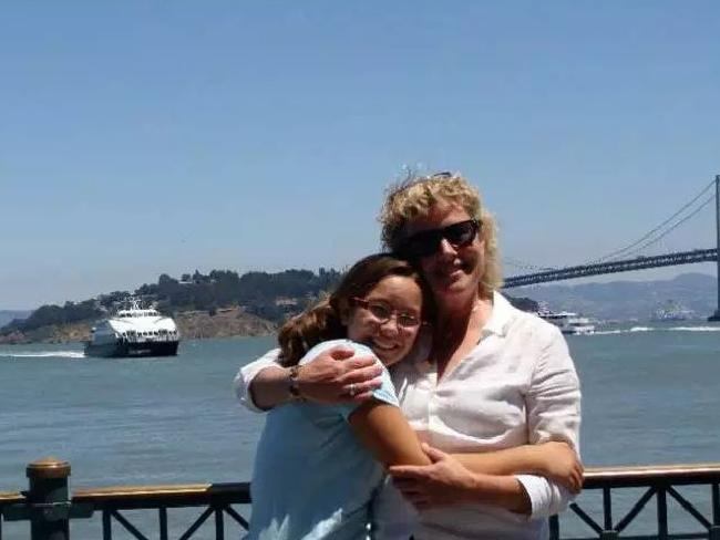 Mollie Tibbetts with her mother, Laura Calderwood. Picture: Supplied