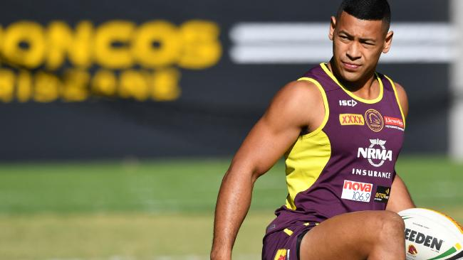 Jamayne Isaako has been a revelation for the Brisbane Broncos. Picture: Darren England/AAP