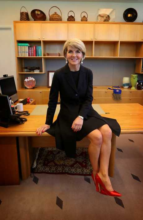 Julie Bishop in her office at Parliament House, Canberra. Picture: Kym Smith