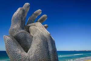The sands of Currumbin Beach on the Gold Coast will again transform into an impressive collection of one-off works of art for the 16th SWELL Sculpture Festival.