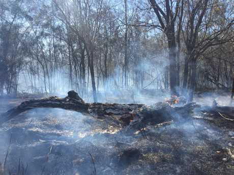 Fire at Baldwin Swamp, East Bundaberg.