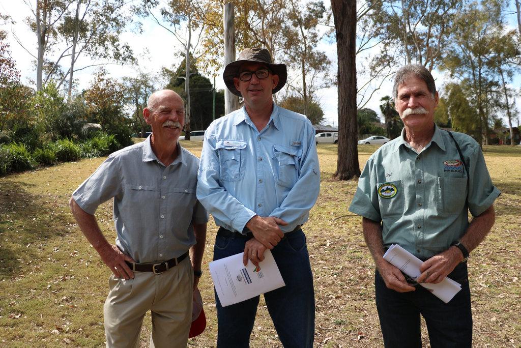 Peter Taylor, Greg Ringwood and Lloyd Willman.