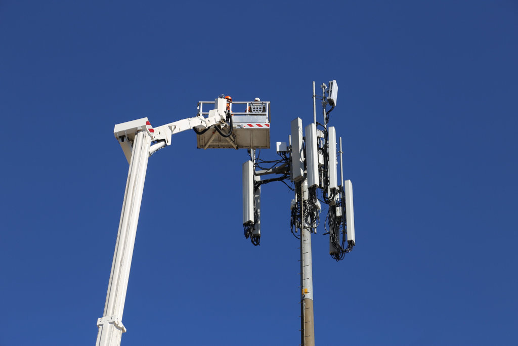 Regional Australia's first 5G tower.