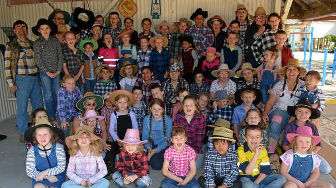 Students, teachers and the P&C of Lower Tenthill State School celebrated the end of Book Week with games and dress ups.