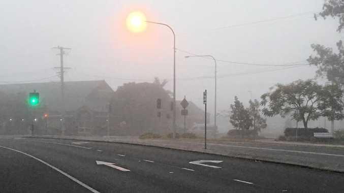 FOGGY START: Residents awoke to a thick blanket of fog surrounding the Gympie region earlier this morning.
