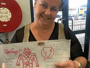 Postie's act of kindness helps grandsons' letter arrive