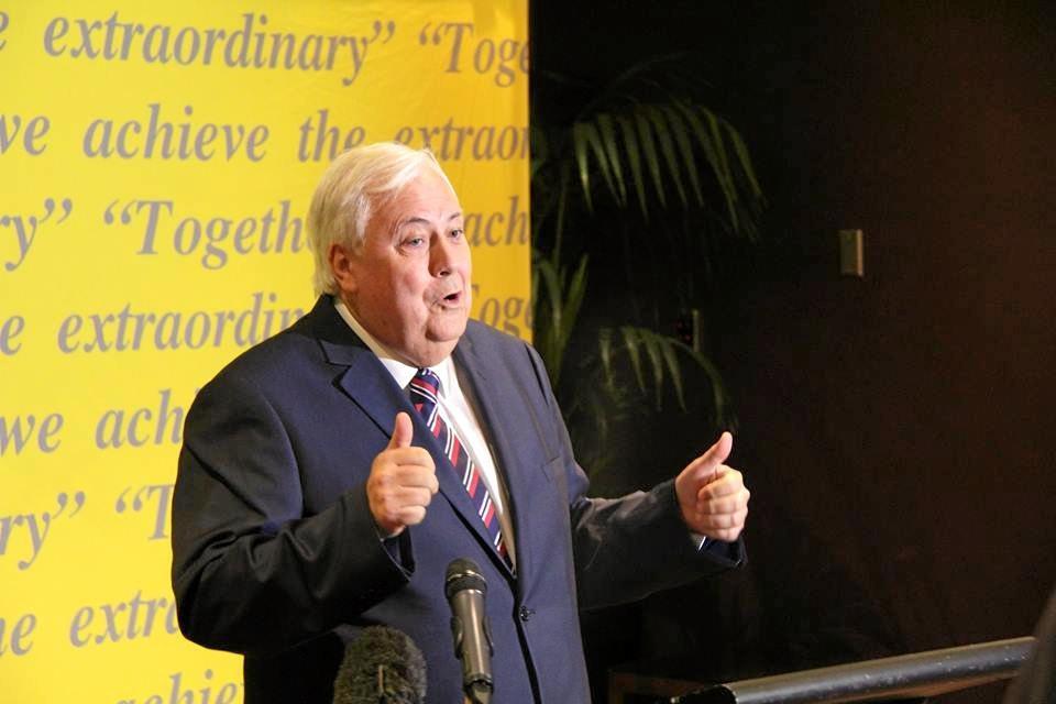 Clive Palmer in November after losing dozens of kilograms.