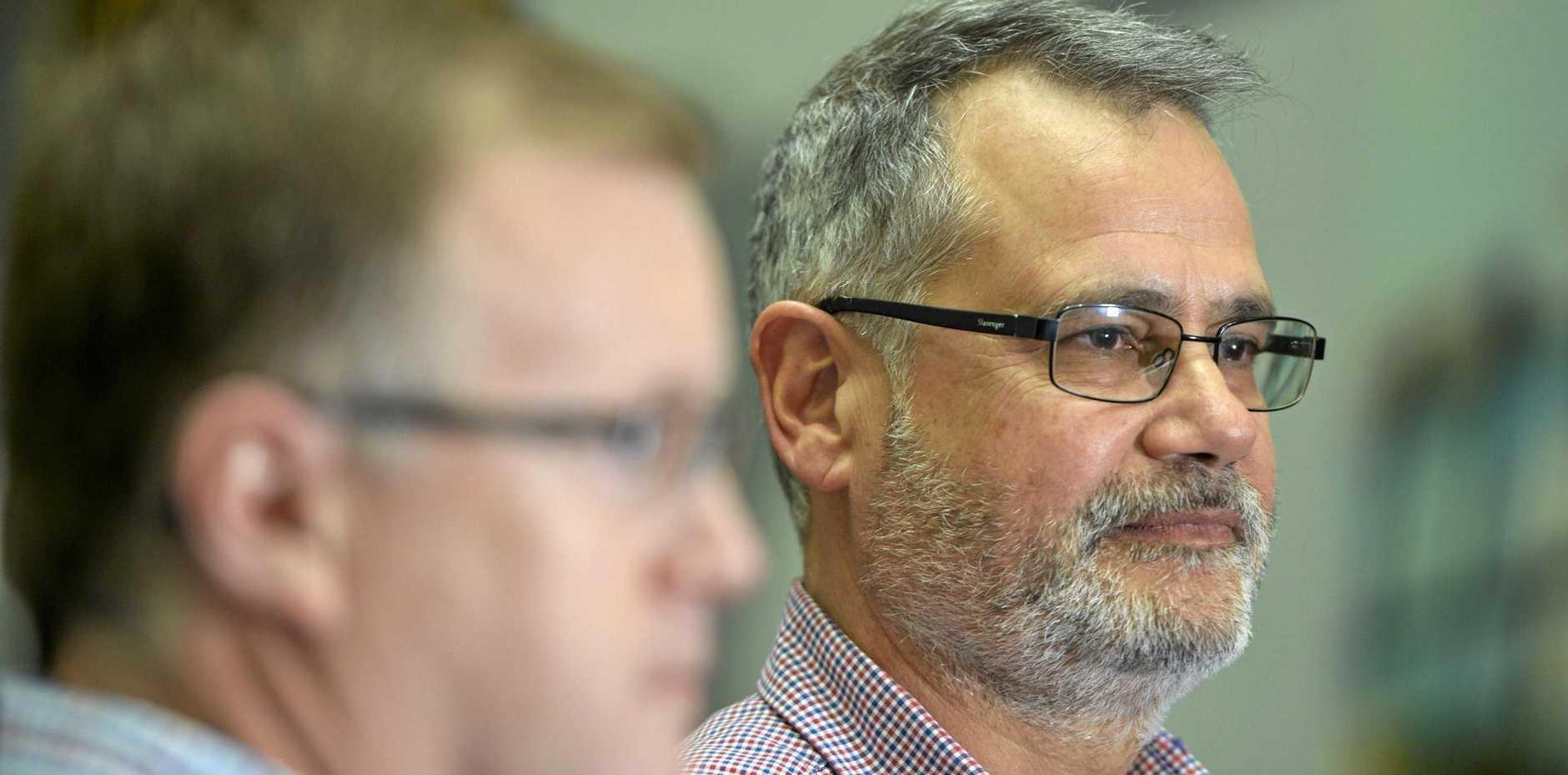Ipswich City Council Administrator Greg Chemello (right).
