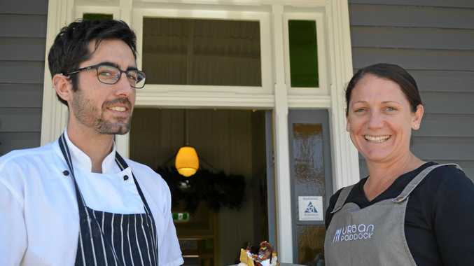 BEST BREAKFAST: Urban Paddock's Caleb McKinnon and Melissa Harms were shocked with their huge accolade.