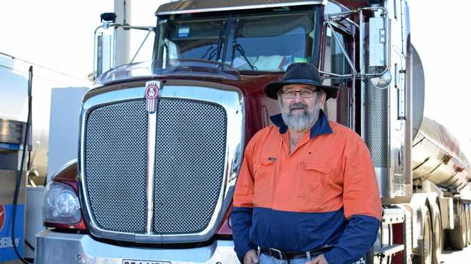 DODGING DANGER: Veteran truck driver Tyrone Blinco said women putting on make-up on while driving was common.