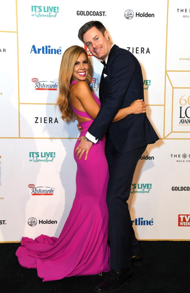 The couple attended the Logies together earlier this year