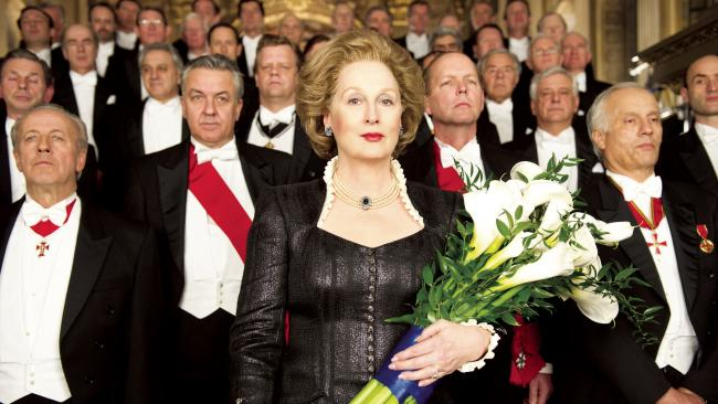 Meryl Streep plays former UK Prime Minister Margaret Thatcher in The Iron Lady.