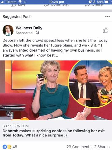 TV presenter Deborah Knight was also swept up in the fake news scam. Picture: Supplied