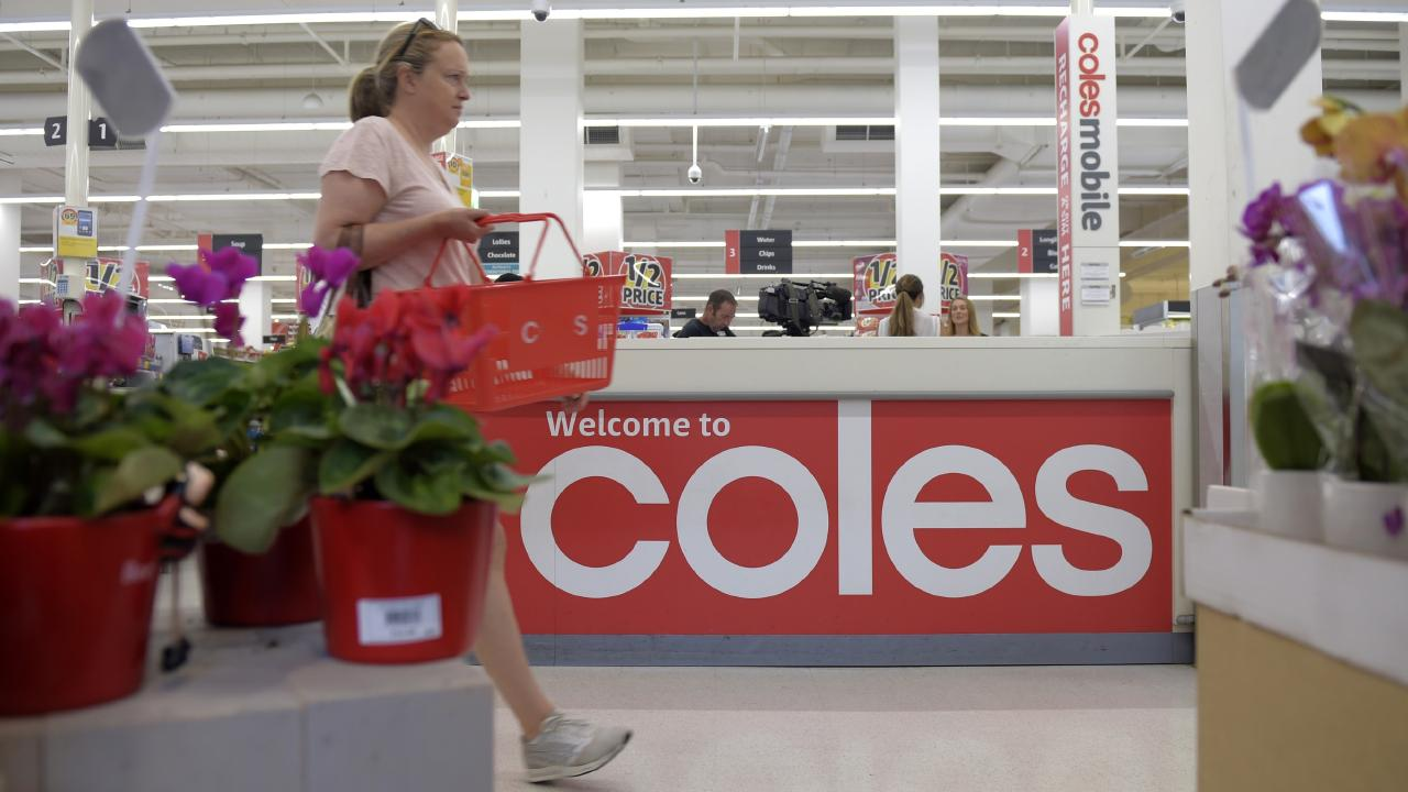 Coles has been handing out free plastic bags for two months after the supermarket giant dumped single-use bags. Picture: Supplied