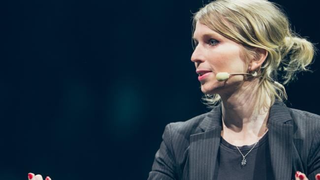 The Department of Home Affairs is about to ban Chelsea Manning from Australia. Picture: Allen McEachern