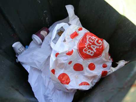 Some consumers have chosen to use the reusable bags much like single-use plastic bags. Picture: John Grainger