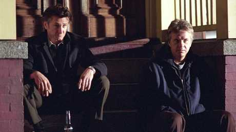 Sean Penn with Tim Robbins in Mystic River.