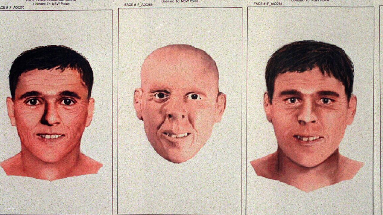 Sydney University Anthropologist reconstruction face of the body of unidentified male believed murdered discovered lashed to man made steel frame in Hawkesbury River off Patonga. Picture: Supplied