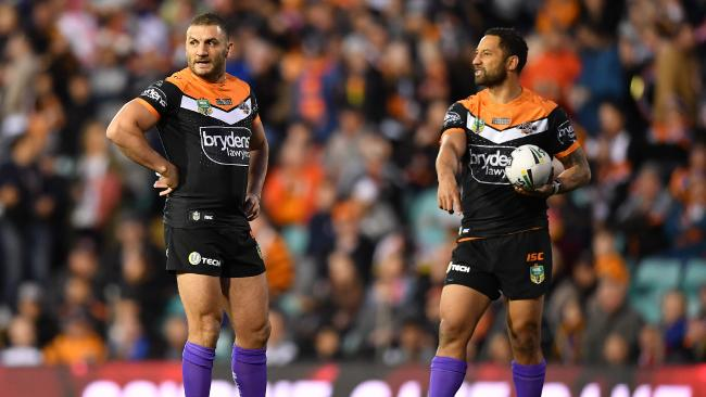 Robbie Farah and Benji Marshall will stick around at the Tigers in 2019. Picture: Joel Carrett/AAP