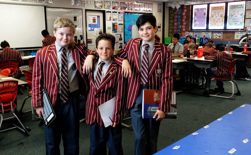 Ipswich Grammar School year five students William Jenkins, Tom Savage and Max Wilds