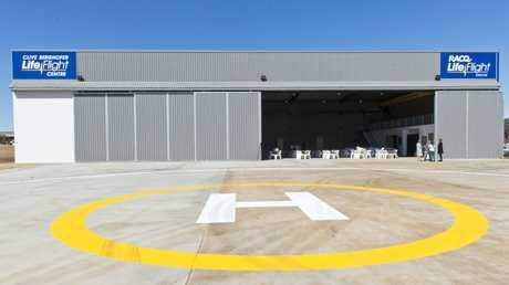 The new LifeFlight hangar.