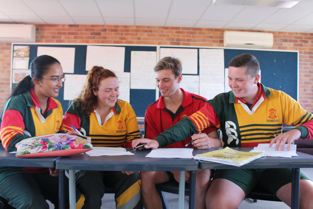 Image for sale: Annmary Vincent Kate Saxby Liam Hitchener and Lachlan Green are all ready for the QCS