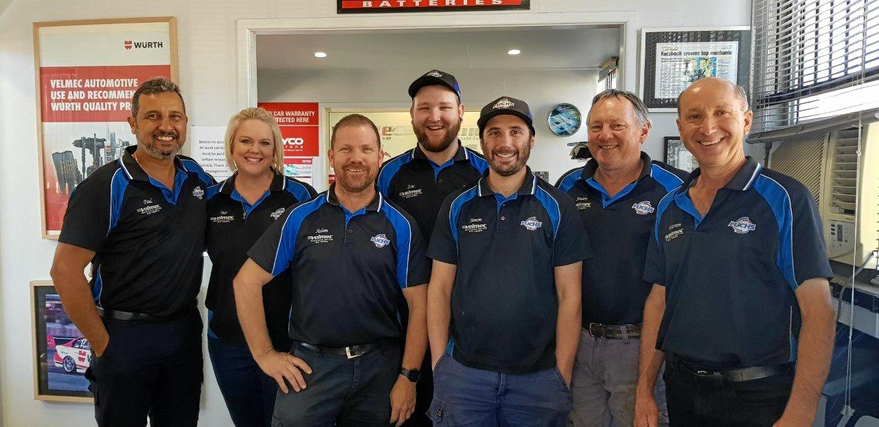 The awesome Gympie Velmec Team
