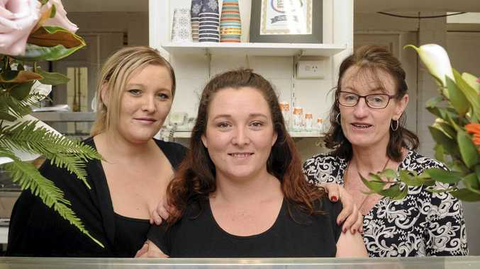 Anastasia Fauntleroy, Marie Howe and Vicki Lawson will say goodbye to the North Grafton General Store The Hospital Shop on Friday.