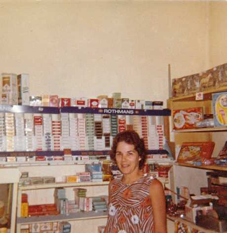 CHANGING TIMES: Alison Bathgate at The Hospital Shop, displaying cigarettes on its shelves, in the late 1970s.