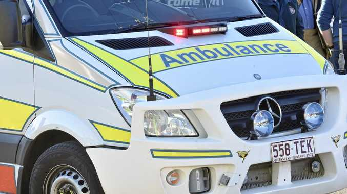 A woman has been taken to hospital following a crash in Maryborough earlier today.