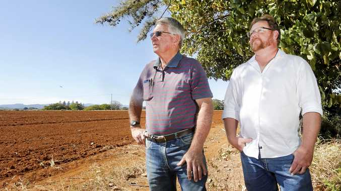 UPSET: Col Brooks and Dion Andrews from the Combined Tweed Rural Industries Inc copped serious flak on social media after daring to propose a rooftop garden for the new hospital.