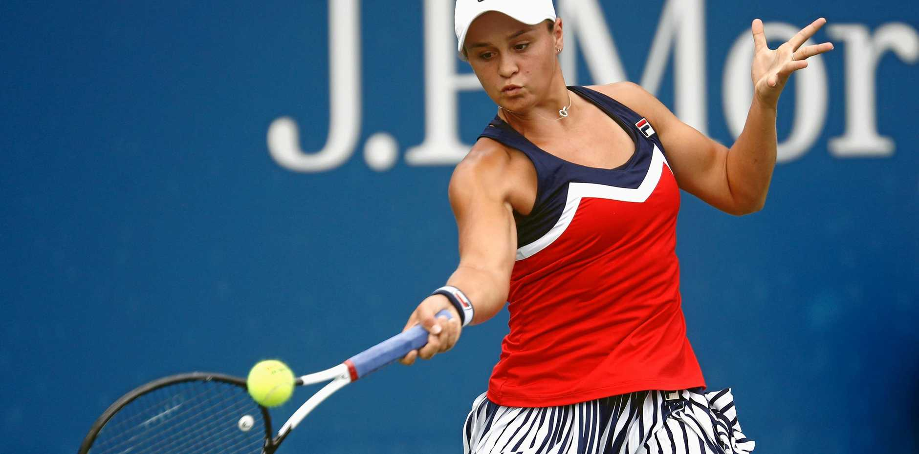 Australia's Ashleigh Barty has comfortably beaten former French Open finalist Lucie Safarova in their round-two clash at the US Open. Picture: Julian Finney/Getty