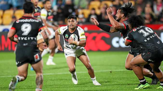 The Panthers' Tyrone Peachey is reportedly trying to get out of his contract with the Gold Coast Titans. Picture: David Rowland/AAP