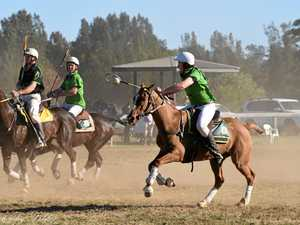 Nine from one family playing in a state polocrosse carnival
