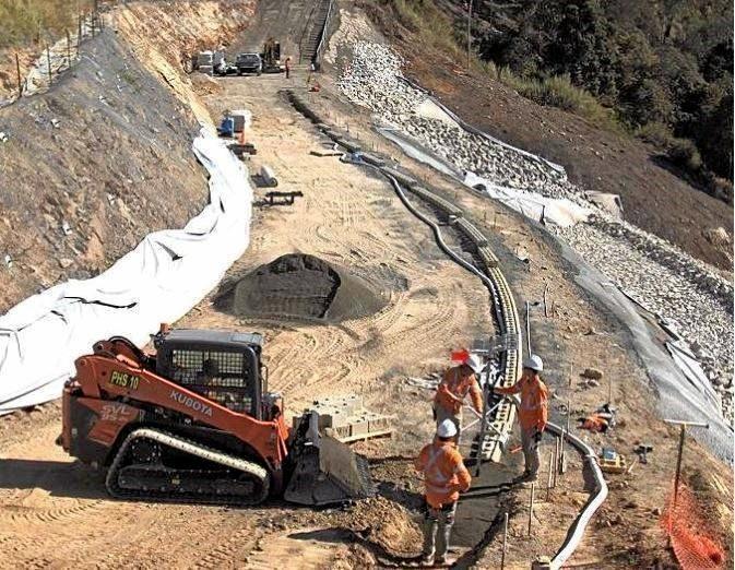 Upgrade works on Marlborough-Sarina Road along the Sarina Range.