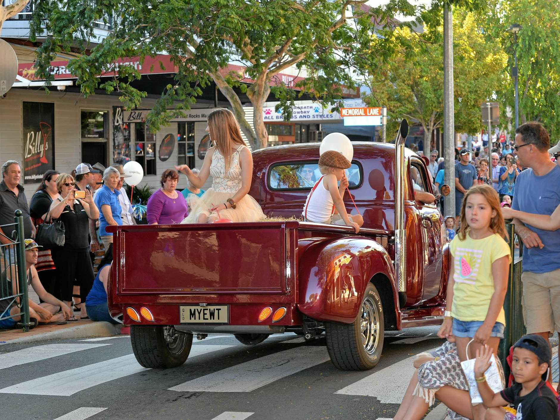 Gympie Gold Rush Parade through Mary St