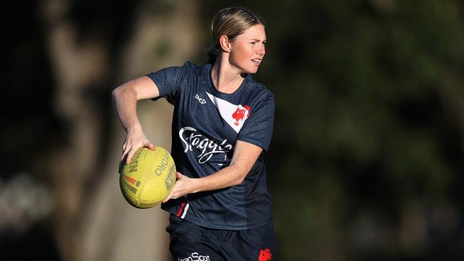 Maddie Studdon said the Roosters club has embraced the women's team. Pic: Brett Costello