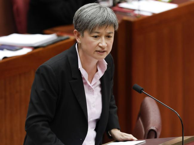 Senator Penny Wong says Scott Morrison needs to take complaints of bullying seriously. Picture: Sean Davey
