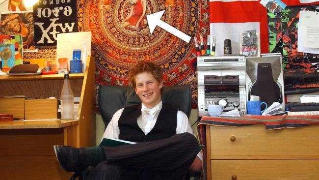 Prince Harry sits in his bedroom at Eton College. (Picture: Pool Photograph/Corbis/Corbis via Getty Images