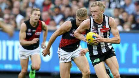 Stephenson's speed and ability to break lines has been a feature for the Pies this season. Picture: Michael Klein