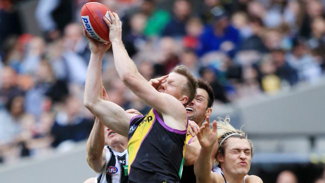 Three-time Coleman Medal winner Jack Riewoldt has been a shining light for the Tigers up forward. Picture: Mark Stewart