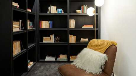 A reading nook inside Kerrie and Spence's guest bedroom. Source: The Block