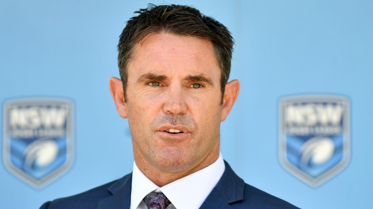Brad Fittler is planning his 2019 State Of Origin assault. Picture: Joel Carrett/AAP